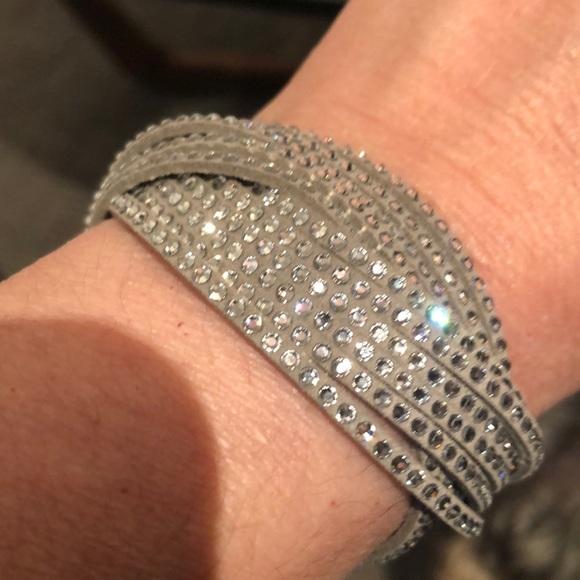 Swarovski Multi-Row Crystal Wrap Bracelet